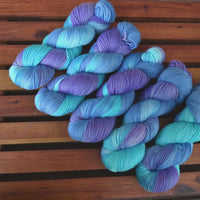 Sock Yarn 4 Ply Australian Merino Wool Knitting Yarn Hand Dyed Blue Violet 12875| Sock Yarn | Sally Ridgway | Shop Wool, Felt and Fibre Online