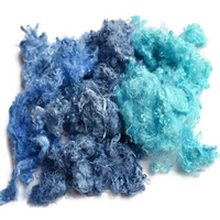 Blue Silk Throwsters Fibre Recycled Silk Fibre Blue Mix 20 grams 12213| Silk Throwster | Sally Ridgway | Shop Wool, Felt and Fibre Online