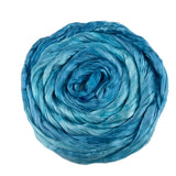 Mulberry Silk Roving Hand Dyed in Aqua Marine 13100| Silk Roving/Sliver | Sally Ridgway | Shop Wool, Felt and Fibre Online