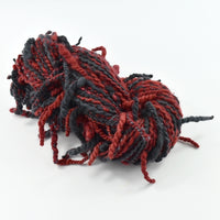 Chunky Merino Wool Hand Spun Art Yarn Black Red 11703| Hand Spun Yarn | Sally Ridgway | Shop Wool, Felt and Fibre Online