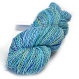 Chunky Hand Spun Yarn Australian Merino Wool Opal Blue Green 12339| Hand Spun Yarn | Sally Ridgway | Shop Wool, Felt and Fibre Online