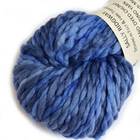 Chunky Merino Wool Yarn Blue Mix 12118| Chunky Yarn | Sally Ridgway | Shop Wool, Felt and Fibre Online