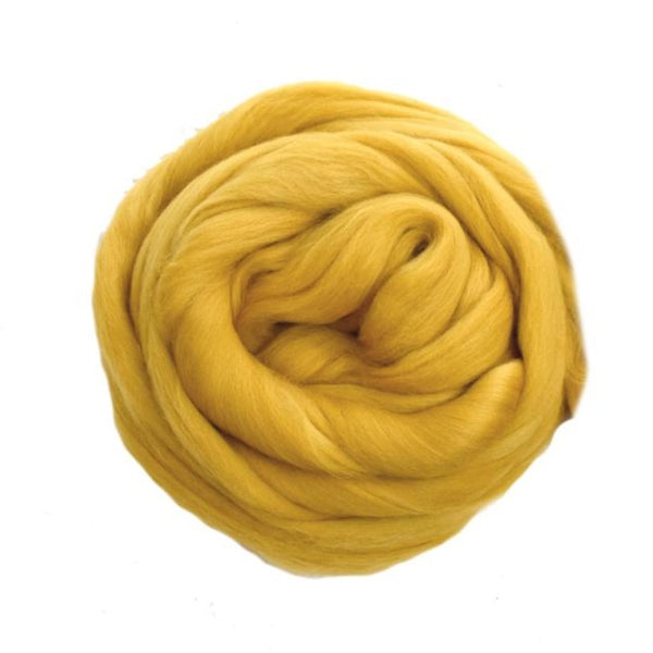 DHG Merino Wool Top - Roving - Honey Yellow| DHG Wool Tops | Sally Ridgway | Shop Wool, Felt and Fibre Online