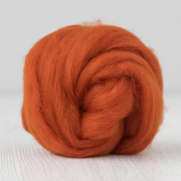 Merino Wool Combed Top Combed Wool Tops - DHG Organic - Pumpkin| DHG Wool Tops | Sally Ridgway | Shop Wool, Felt and Fibre Online