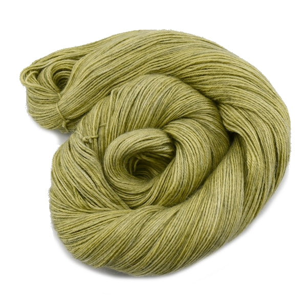 Hand Dyed Baby Alpaca Knitting Yarn 4 Ply Fingering Weight in a Soft Olive Green 12196| 4 Ply Alpaca Yarn | Sally Ridgway | Shop Wool, Felt and Fibre Online