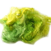 Firestar Fibre Hand Dyed Trilobal Nylon Lime Green Mix 12913| Firestar Fibre | Sally Ridgway | Shop Wool, Felt and Fibre Online