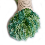 Green Kid Mohair Boucle Knitting Yarn 12114| Hand Spun Yarn | Sally Ridgway | Shop Wool, Felt and Fibre Online