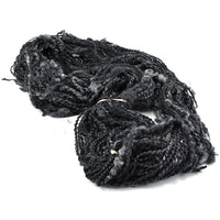 Hand Spun Chunky Art Yarn in Black 12888| Hand Spun Yarn | Sally Ridgway | Shop Wool, Felt and Fibre Online