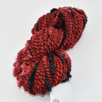 Hand Spun Chunky Art Yarn in Red and Black 12889| Hand Spun Yarn | Sally Ridgway | Shop Wool, Felt and Fibre Online