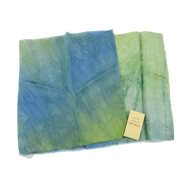 Hand Dyed Mulberry Silk Paj Fabric -Sea Grass -12896| Silk Fabric | Sally Ridgway | Shop Wool, Felt and Fibre Online