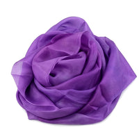 Hand Dyed Mulberry Silk Paj Fabric in Lavender 12902| Silk Fabric | Sally Ridgway | Shop Wool, Felt and Fibre Online