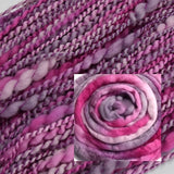 Hand Spun Chunky Tasmanian Merino Yarn in Soft Plum 12992| Hand Spun Yarn | Sally Ridgway | Shop Wool, Felt and Fibre Online
