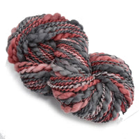 Hand Spun Chunky Tasmanian Merino Yarn in Dusty Red 12991| Hand Spun Yarn | Sally Ridgway | Shop Wool, Felt and Fibre Online