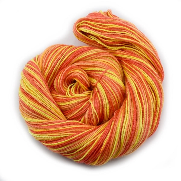 Hand Dyed Baby Alpaca Knitting Yarn 4 Ply Fingering Weight In Yellow Orange 12193| 4 Ply Alpaca Yarn | Sally Ridgway | Shop Wool, Felt and Fibre Online