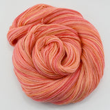 Hand Dyed Baby Alpaca Knitting Yarn 4 Ply Fingering Weight in Apricot 12239| 4 Ply Alpaca Yarn | Sally Ridgway | Shop Wool, Felt and Fibre Online
