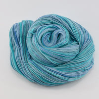 Hand Dyed Baby Alpaca Knitting Yarn 4 Ply Fingering Weight in Opal Blue 12579| 4 Ply Alpaca Yarn | Sally Ridgway | Shop Wool, Felt and Fibre Online