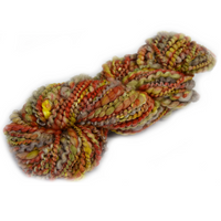 Hand Spun Art Yarn Autumn Tones 12304| Hand Spun Yarn | Sally Ridgway | Shop Wool, Felt and Fibre Online