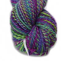 Hand Spun Australian Corriedale Yarn Aussie Bale Project Rainbow 12333| Hand Spun Yarn | Sally Ridgway | Shop Wool, Felt and Fibre Online