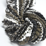 Hand Spun Beaded Art Yarn Chunky Merino & Silk Black Brown White 12218| Hand Spun Yarn | Sally Ridgway | Shop Wool, Felt and Fibre Online