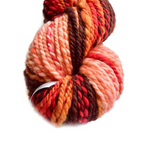 Hand Spun Yarn Chunky Australian Merino Wool Yarn Brown Red Orange 12553| Hand Spun Yarn | Sally Ridgway | Shop Wool, Felt and Fibre Online