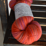 Hand dyed Australian Merino wool yarn 4 ply fingering weight red orange mix 12162| 4 Ply Pure Merino Yarn | Sally Ridgway | Shop Wool, Felt and Fibre Online
