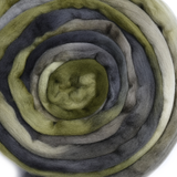 Australian Merino Wool Roving Combed Top in Olive Green Grey 12644| Merino Wool Tops | Sally Ridgway | Shop Wool, Felt and Fibre Online