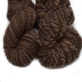 Hand Spun Australian Merino Wool Chunky 2 Ply Yarn in Chocolate Brown 12730| Hand Spun Yarn | Sally Ridgway | Shop Wool, Felt and Fibre Online
