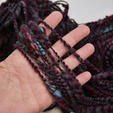 Handspun Chunky Tasmanian Merino Art Yarn in Dark Ruby| Hand Spun Yarn | Sally Ridgway | Shop Wool, Felt and Fibre Online