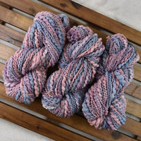 Hand Spun Chunky Tasmanian Merino Yarn in Apricot Blue 13214| Hand Spun Yarn | Sally Ridgway | Shop Wool, Felt and Fibre Online