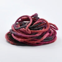 Super Coiled Art Yarn Hand Spun in Classic Red and Black 13136| Hand Spun Yarn | Sally Ridgway | Shop Wool, Felt and Fibre Online