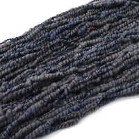 Hand Spun Chunky Tasmanian Merino Yarn Core Spun Steel Blue 13134| Hand Spun Yarn | Sally Ridgway | Shop Wool, Felt and Fibre Online