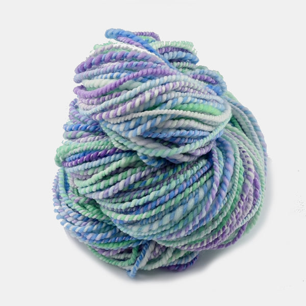 Hand Spun Superwash Merino Wool Yarn in Sherbet Fizz 12995| Hand Spun Yarn | Sally Ridgway | Shop Wool, Felt and Fibre Online
