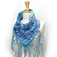 Australian Merino Wool Felt Scarf Wrap in Opal Blue Green 12254| Wool Felt Scarves | Sally Ridgway | Shop Wool, Felt and Fibre Online