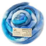 Superwash Tasmanian Merino Wool Top (Roving) Sky Blue 12905| Superwash Merino Wool Tops | Sally Ridgway | Shop Wool, Felt and Fibre Online