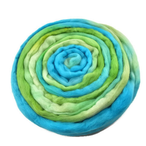 Merino Wool Roving Australian Combed Top Blue Green 12566| Merino wool tops | Sally Ridgway | Shop Wool, Felt and Fibre Online