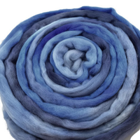 Merino Wool Roving Australian Combed Top Dusty Blue Mix 12560| Merino wool tops | Sally Ridgway | Shop Wool, Felt and Fibre Online