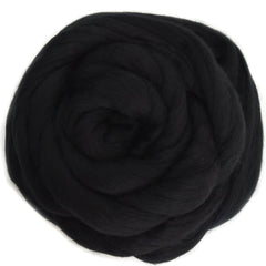 Black DHG Australian merino wool roving combed tops | Sally Ridgway | Shop Wool, Felt and Fibre Online