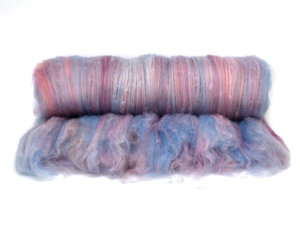 Tasmanian Merino Wool Carded Batts Hand Dyed Mushroom 13151| Merino Wool Batts | Sally Ridgway | Shop Wool, Felt and Fibre Online