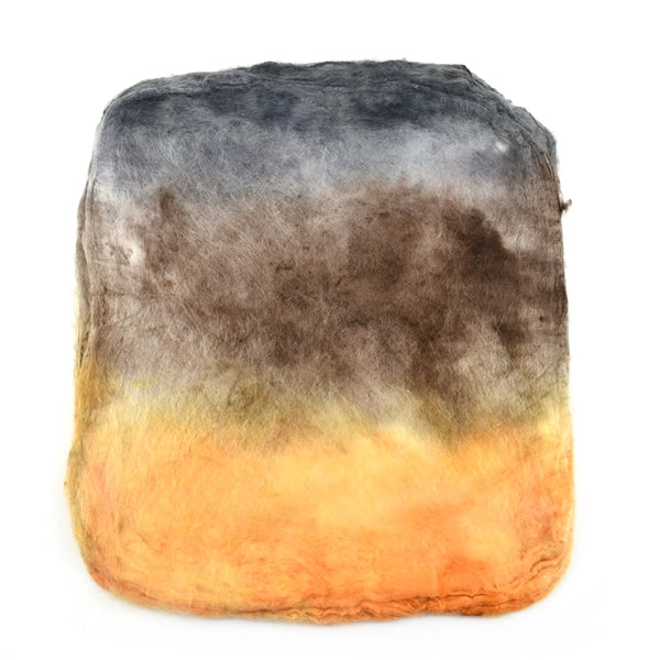 Mulberry Silk Hankies Hand Dyed Butternut Pumpkin 12871| Silk Hankies | Sally Ridgway | Shop Wool, Felt and Fibre Online