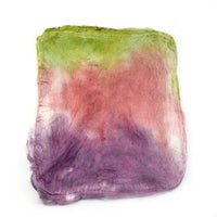 Mulberry Silk Hankies Hand Dyed Mushroom Pink 12870| Silk Hankies | Sally Ridgway | Shop Wool, Felt and Fibre Online
