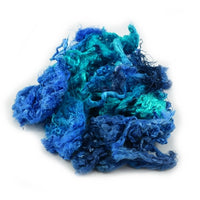Mulberry Silk Throwster Fibre in Vivid Bluebell 12868| Silk Throwster | Sally Ridgway | Shop Wool, Felt and Fibre Online