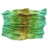 Mulberry Silk Cocoon Sheet Fabric Hand Dyed Green Mix 12398| Silk Cocoon Sheets | Sally Ridgway | Shop Wool, Felt and Fibre Online