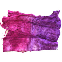 Mulberry Silk Cocoon Sheet Fabric Hand Dyed Magenta Purple Pink 12675| Silk Cocoon Sheets | Sally Ridgway | Shop Wool, Felt and Fibre Online