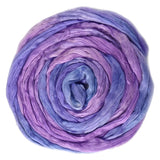 Mulberry Silk Roving Hand Dyed in Iris 12965| Silk Roving/Sliver | Sally Ridgway | Shop Wool, Felt and Fibre Online