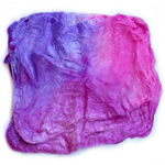 Mulberry Silk Hankies Hand Dyed 10g Hot Pink Purple Mix 12280| Silk Hankies | Sally Ridgway | Shop Wool, Felt and Fibre Online