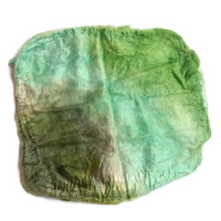 Mulberry Silk Hankies Mawata Squares Hand Dyed 10g Green Mix 12284| Silk Hankies | Sally Ridgway | Shop Wool, Felt and Fibre Online