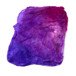 Mulberry Silk Hankies Mawata Squares Hand Dyed 10g Pink Purple Mix 12201| Silk Hankies | Sally Ridgway | Shop Wool, Felt and Fibre Online