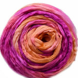 Mulberry Silk Roving Apricot Pink 20 Grams 12329| Silk Roving/Sliver | Sally Ridgway | Shop Wool, Felt and Fibre Online