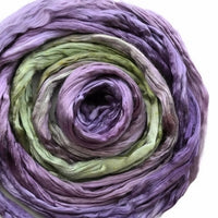 Mulberry Silk Roving Green Purple 20 Grams 12323| Silk Roving/Sliver | Sally Ridgway | Shop Wool, Felt and Fibre Online