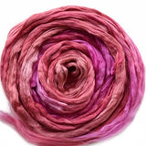 Mulberry Silk Roving Pink Mix 20 Grams 12327| Silk Roving/Sliver | Sally Ridgway | Shop Wool, Felt and Fibre Online
